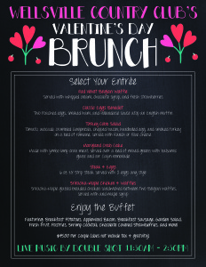 Valentines Day Brunch, Valentines Day, Wellsville, NY, Wellsville Country Club